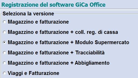 Software gestione magazzino e fatturazione versioni